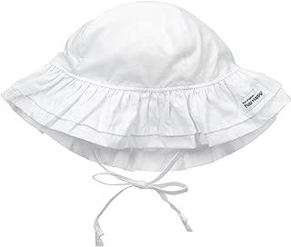 Baby Girls' UPF 50+ Double Ruffle Hat