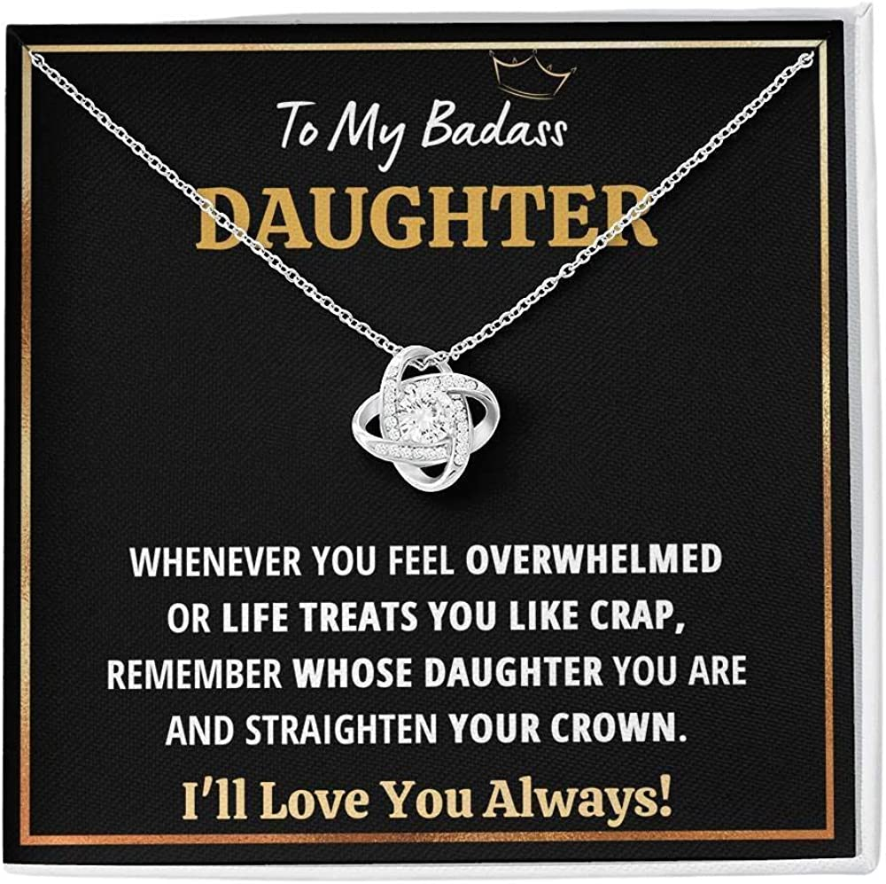 Badass Free shipping anywhere in the nation Daughter Necklace To My - Max 83% OFF Lov Daughter