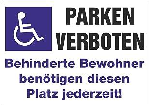 INDIGOS UG - Sticker - veiligheid - waarschuwing - 5 set parkeren verboden! parkeerplaats voor gehandicapten - 297 mm x 21...