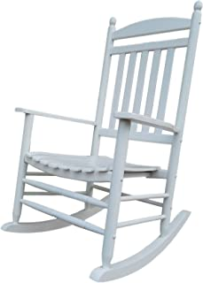 Rocking Rocker-A040WT White Porch Rocker/Rocking Chair -Easy to Assemble-Comfortable Size-Outdoor or Indoor Use