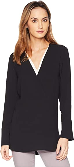 Long Sleeve Doubled V-Placket Tunic