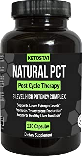 60 Day Clinical Grade Post Cycle Therapy Supplement for PCT Support for Men | Potent 3-in-1 PCT Supplement with Estrogen Blockers, Liver Support and Boosts Libido