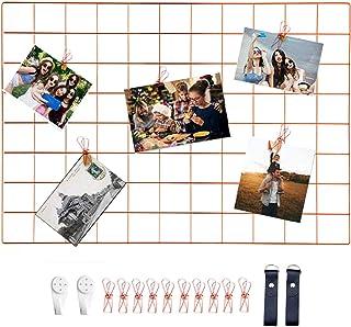 WUZILIN - Estante de Rejilla de Pared para Manualidades, de Hierro, para Colgar Fotos en el tablón de Notas, en la Familia...