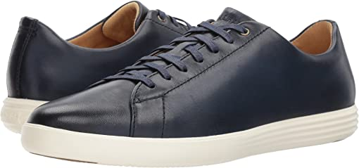 Navy Leather Burnish
