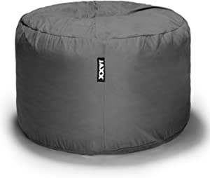 Jaxx Bean Bag Chair with Removable Cover, 3', Charcoal