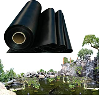 Thickness 0.3mm Rubber Pond Liner for Small Ponds, Fish Ponds Streams Fountains Water Garden Koi Ponds Customizable Size P...
