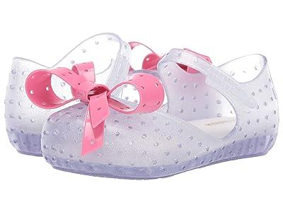 Mini Melissa Mini Furadinha XI (Toddler/Little Kid) (Clear/Glitter Pink) Girls Shoes