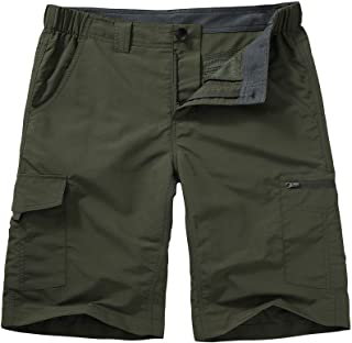 Jessie Kidden Men's Outdoor Casual Classic Fit Expandable Waist Cargo Fishing Hiking Stretch Shorts Multi-Pocket Walk Short