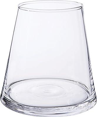 INNA Glas Set 4 x Florero MAX, Transparente, 12cm, Ø7cm - Pack de