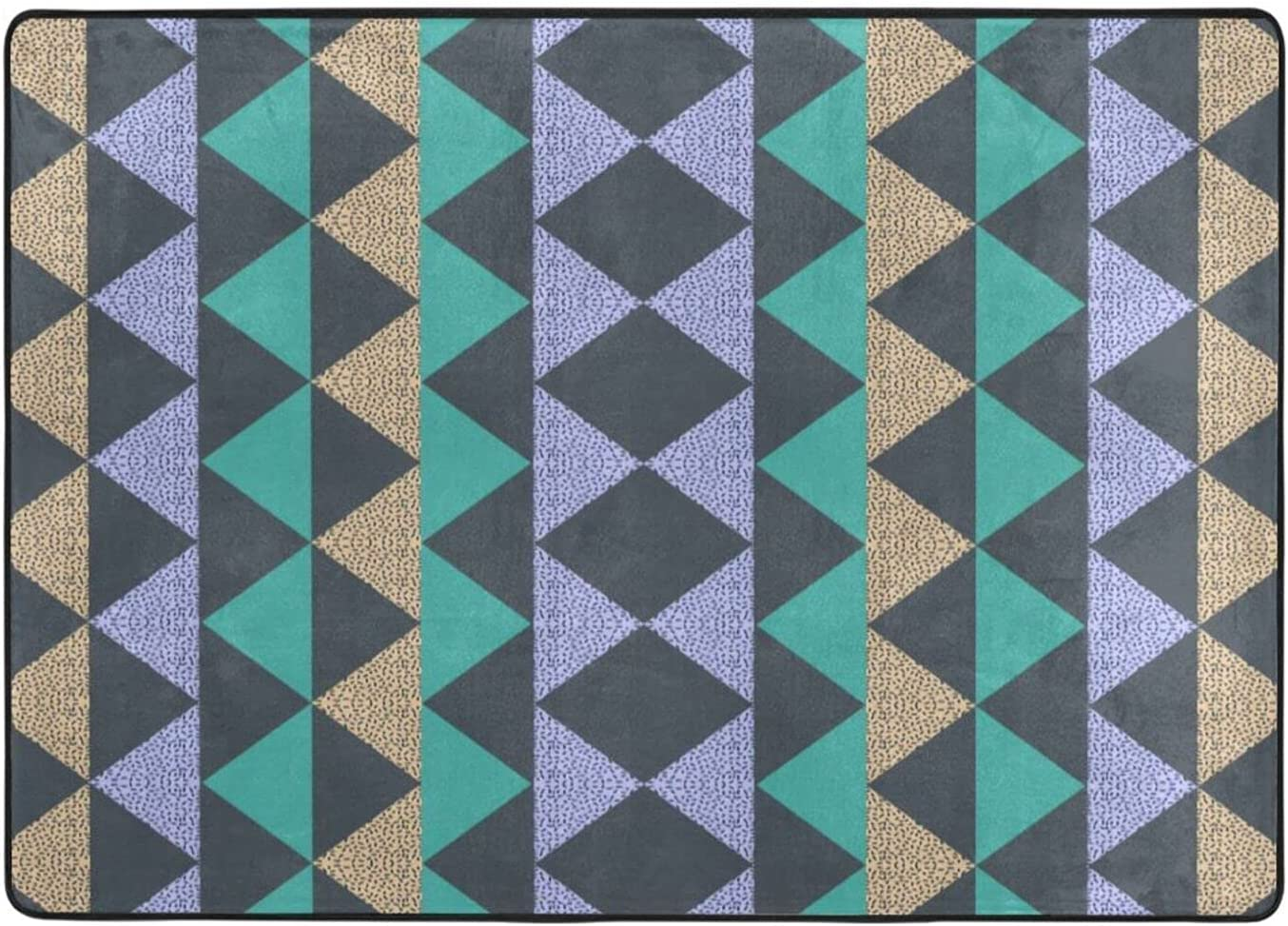 Geometric Patterns Collection Machine Washable 48 New product in 63 X Columbus Mall Carpet