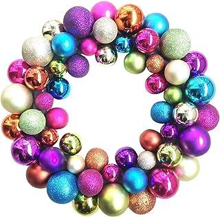 JJHAEVDY Glittery Christmas Balls Wreath Garland Ornaments Christmas Tree Decorations for Wedding Party Anniversary 35cm
