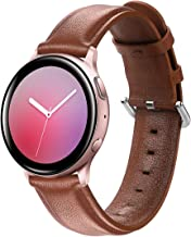 KOMI bands Compatible with Samsung Galaxy Watch Active/Active 2 44mm 40mm/Galaxy Watch 42mm, 20mm Sport Leather Strap Repl...