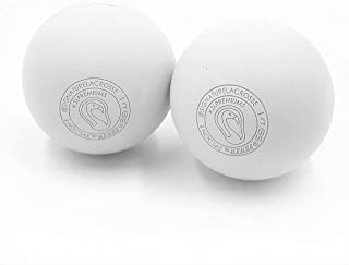 Signature Lacrosse Massage Ball Set Great for Myofascial Release, Trigger Point Therapy, Muscle Knots, and Yoga Therapy - Firm Rubber Scientifically Designed for Durability