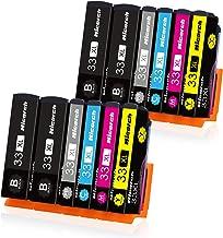 Hicorch 33XL Cartuchos de Tinta para Epson 33 XL Compatible con Epson Expression Premium XP-530 XP-540 XP-630 XP-640 XP-645 XP-830 XP-900 XP-7100 (4 Negro,2 Foto Negro,2 Cian,2 Magenta,2 Amarillo)
