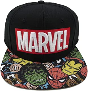 BIOWORLD Marvel Halftone Black Snapback Baseball Cap