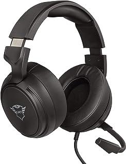 Trust GXT 433 Pylo Auriculares Gamer con Micrófono Plegable, Unidades de Altavoces Activos de 50 mm, Cable Trenzado, para ...