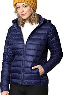 Women's Ultra Light Weight Packable Down Jacket with...