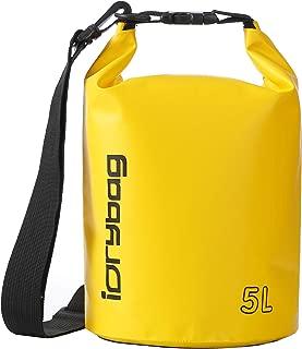 IDRYBAG Dry Bag Waterproof Floating,  TPU Waterproof Bag Roll Top,  2L, 5L, 10L Dry Bag Kayak Storage for Kayaking,  Boating,  Rafting,  Fishing,  Swimming,  Hiking,  Camping,  Travel,  Beach