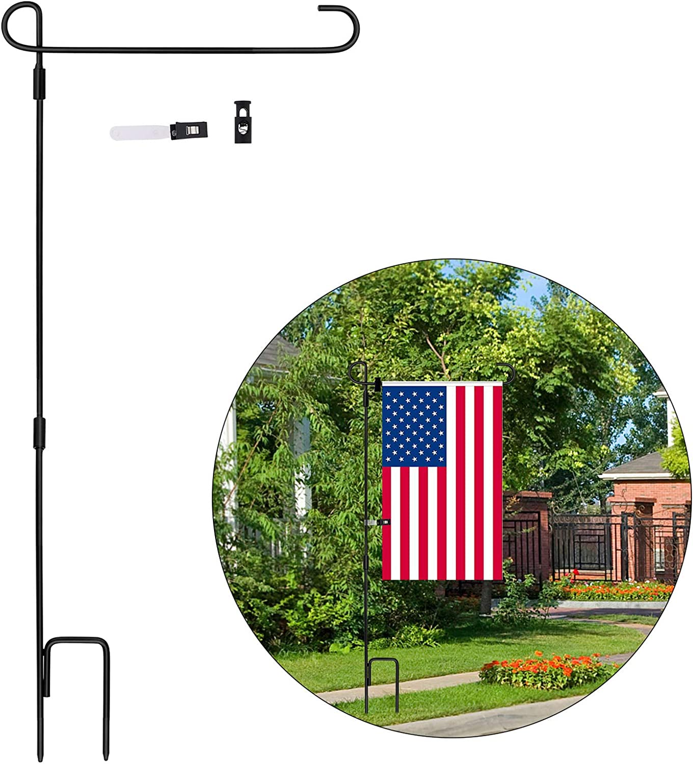 Garden Flag Stand Max 50% OFF Large special price Stand-Holder-Pole Tinabless with