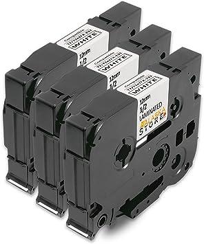 5x DRUCKER SCHRIFTBAND KASSETTE 12mm für BROTHER P-Touch 1010 1010NB 1010R1