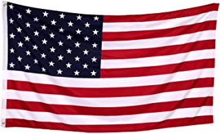 Tenby Living American Flag 3 x 5 ft. Heavyweight 2X Thicker Polyester - UV Protected, Quadruple-Stitched Fly End, Double-Stitched Edges, Brass Grommets