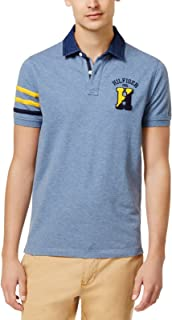 Tommy Hilfiger Mens Contrast-Trim Rugby Polo Shirt