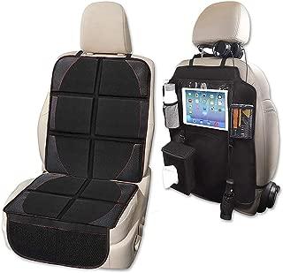 Car Seat Protector and Kick Mat Car Seat Organizer, Whew Waterproof Padding Protector for Baby Convertible Car Seat with Backseat Organizer (Car Seat Protector + Kick Mat)