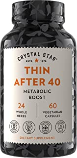 Sponsored Ad - Crystal Star Thin After 40 Weight Loss Supplement (60 Capsules) – Herbal Supplement that helps suppress App...