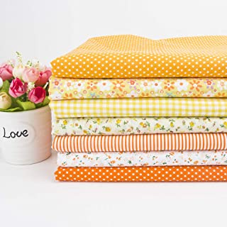 "7Pcs 20"" x 20"" Cotton Fabric DIY Making Supplies Quilting Patchwork Fabric Fat Quarter Bundles DIY for Quilting Patchwork ..."