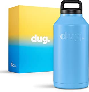 2 Litre 68 Ounce Light Blue Insulated Stainless Steel 22hr Ice Container, Water Bottle, 6 hr Thermos and Fizzy Drink Keeper. Available in 4 colours and 4 Limited Edition Aussie Designer Cartons.