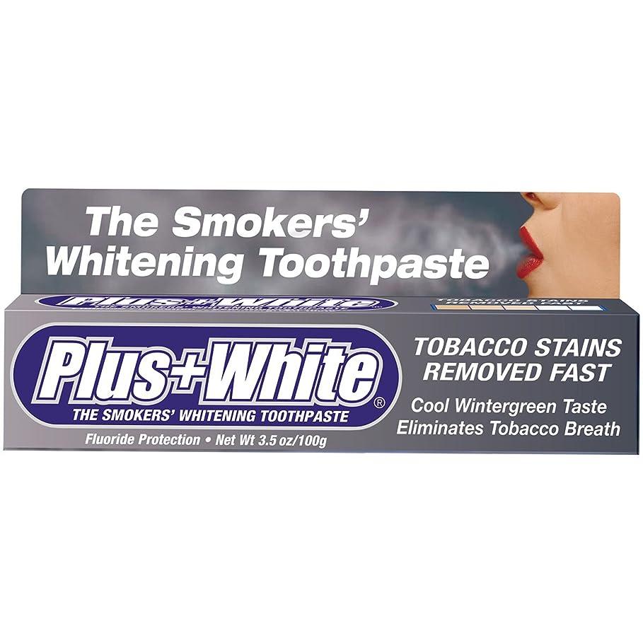 機関批判的に楽観的Plus White, The Smokers' Whitening Toothpaste, Cooling Peppermint Flavor, 3.5 oz (100 g)