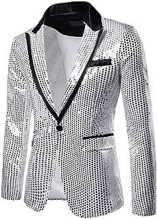Amazon.es: Plateado - Trajes y blazers / Hombre: Ropa