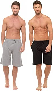 BRANDBUYS Mens Pyjamas Shorts Twin Pack   Lounge Shorts Men   Cotton Pyjama   Soft, Cosy & Comfy Shorts, Mens Pyjamas, Nig...
