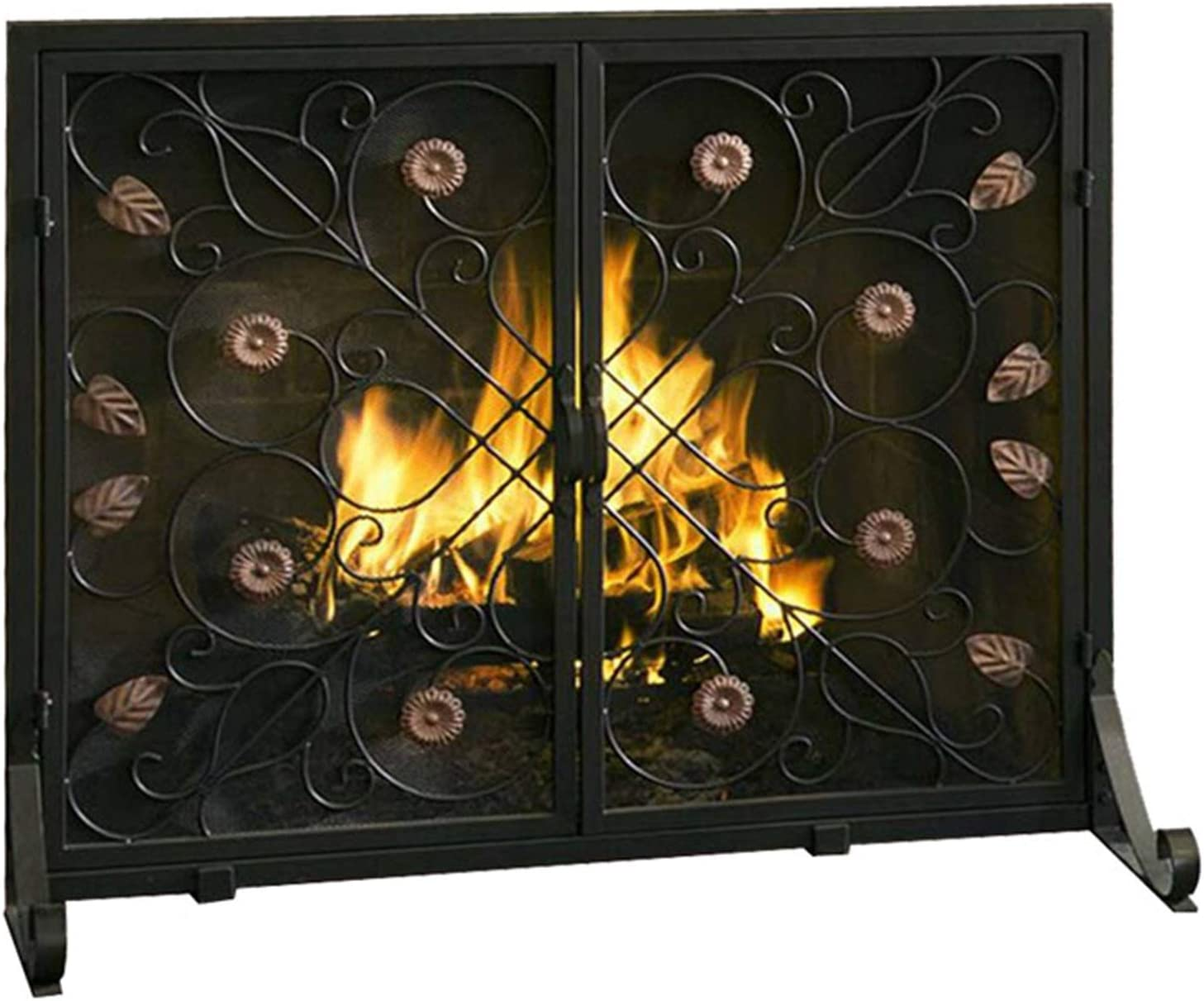 barture Freestanding Fireplace Time sale Los Angeles Mall Screen Fire European Retro Style