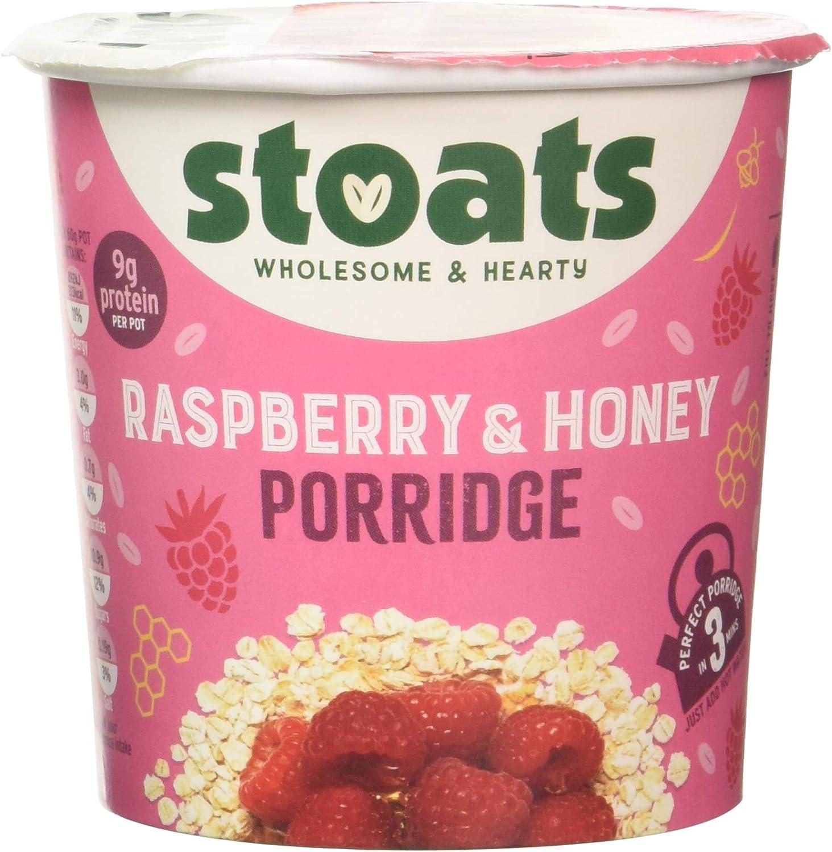 Stoats Raspberry & Honey Porridge Pots 20g Pack of 20