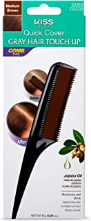 Kiss Quick Cover Gray Hair Touch Up Comb-On 0.28oz - Medium Brown