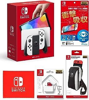 Nintendo Switch(有機ELモデル) Joy-Con(L)/(R) ホワイト+【任天堂ライセンス商品】Nintendo Switch (有機ELモデル)専用有機EL保護フィルム 多機能+ACTIVE BODY for Nintend...