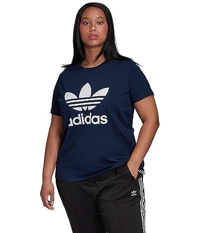 adidas Originals Plus Size Trefoil Tee (Collegiate Navy/White) Women