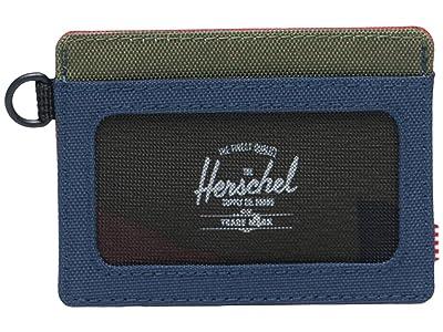Herschel Supply Co. Charlie ID RFID (Navy/Red/Woodland Camo) Wallet Handbags