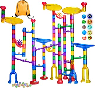 Meland Marble Run – 122Pcs Marble Maze Game Building Toy for Kid, Marble Track Race..