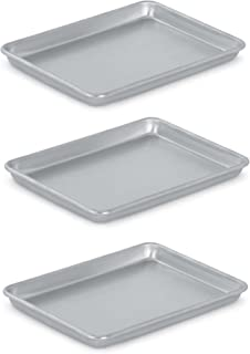 Vollrath 5220 Wear-Ever Collection Quarter-Size Sheet Pans, Set of 3 (9 1/2-Inch x 13-Inch, Aluminum)