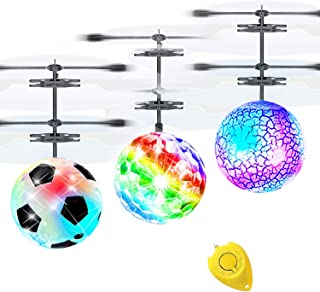 3 Pack Flying Ball Kids Toys RC Flying Toys Hand Control Helicopter Infrared Induction Birthday Gift Toy for Boys RC Flyin...