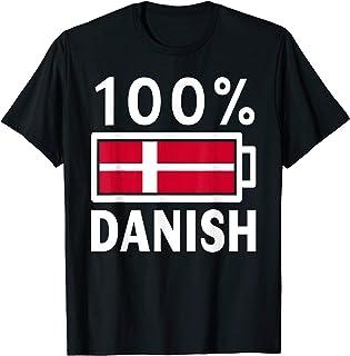 Denmark Flag   100% Danish Battery Power Tee T-Shirt