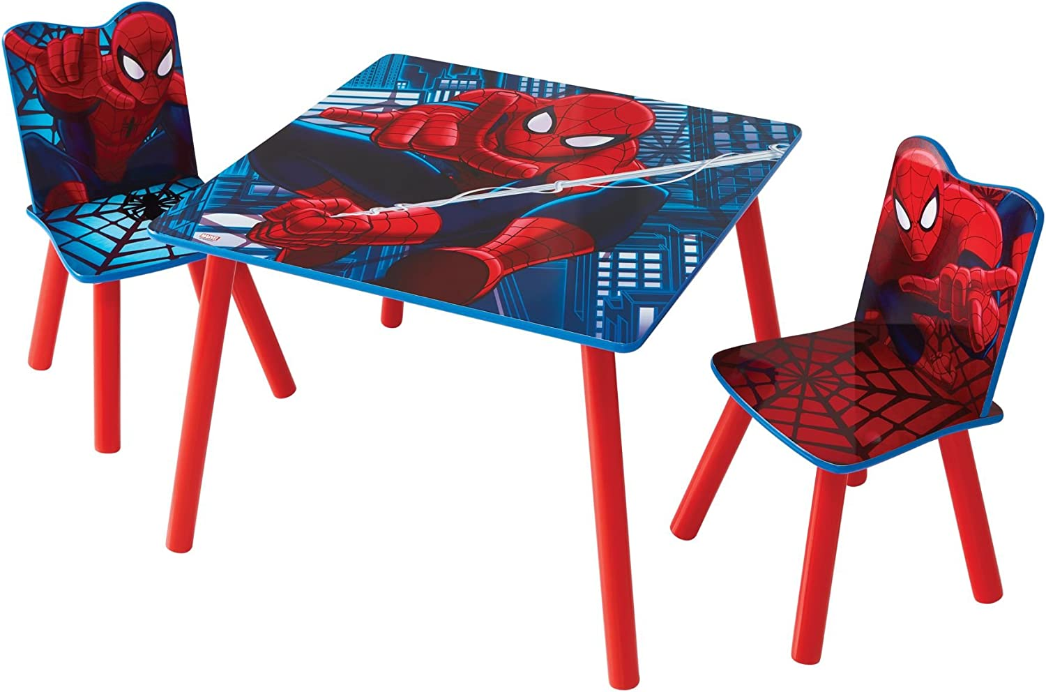 Marvel SpiderMan Kids Table and 2 Chair Set by HelloHome