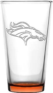 Denver Broncos Embossed Pint Glass 16 oz. (2 pack)