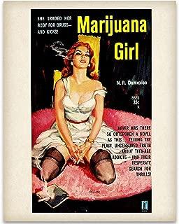 Marijuana Girl - 11x14 Unframed Art Print - Great Rehabilitation Center Wall Sign Under $15