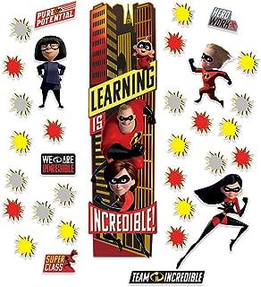 Eureka Disney Pixar The Incredibles Classroom Decoration Door Poster Kit, 33pcs, 45'' H