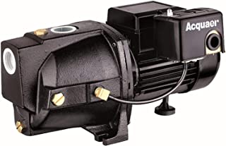 Acquaer SJC100-1 1 HP Cast Iron Shallow Well Jet Pump for Wells up to 25 ft.