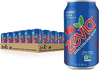 Zevia Zero Calorie Soda, Cherry Cola, Naturally Sweetened Soda, Cherry Cola-flavored Carbonated Soda; Refreshing, Full of ...