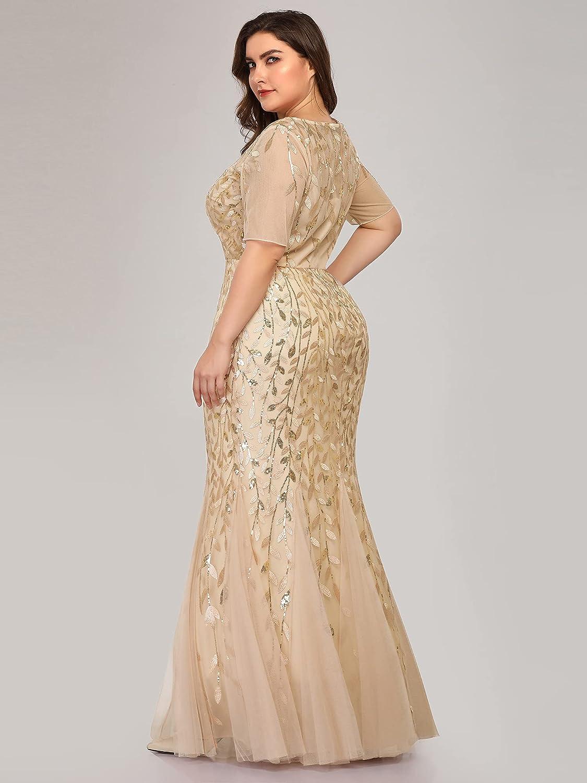 Alisapan Womens Plus Size Elegant 2019 Long Prom Evening Party Dresses for Women 77071